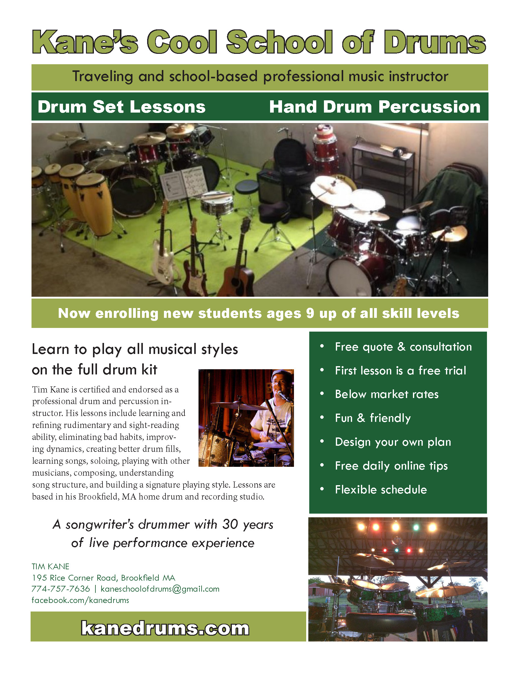 Christmas 2018 Special. First drum set lesson free. Djembe lessons ...